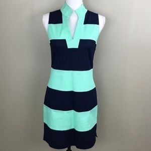 Brand New Sail to Sable Navy Cabbage Striped Dress
